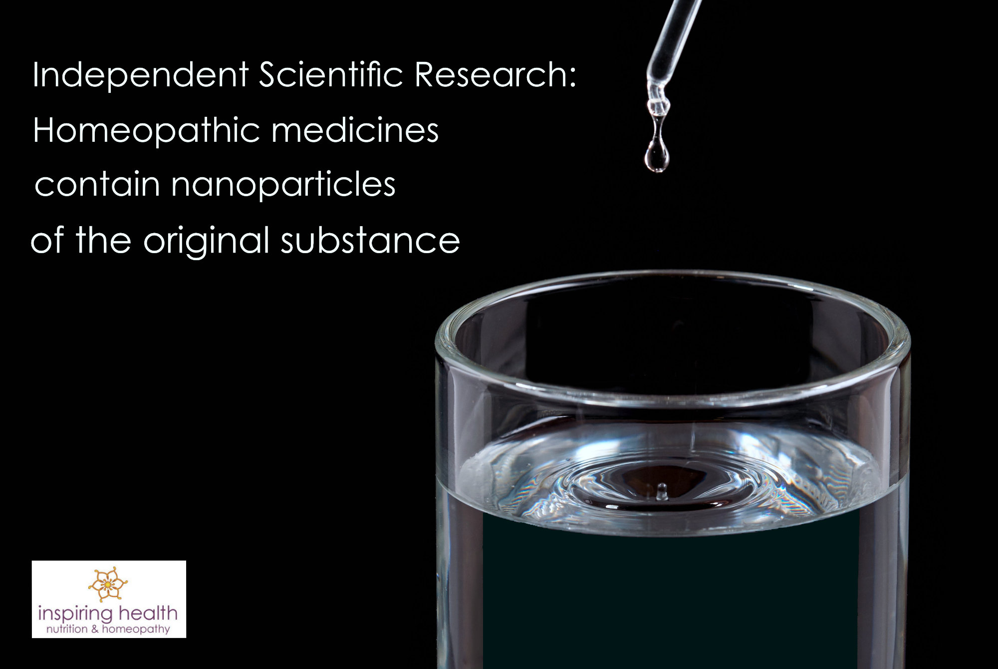 Homeopathic medicines contain nanoparticles of the original substance
