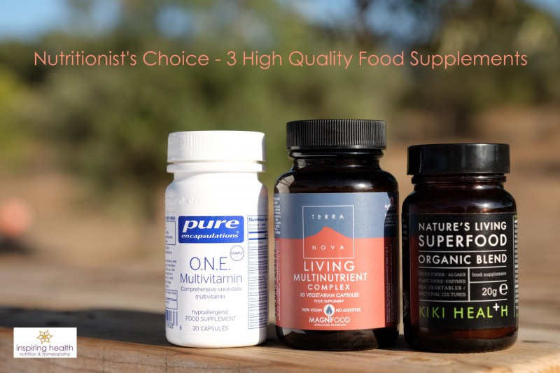 Nutritionist's Choice - 3 High Quality Food Supplements
